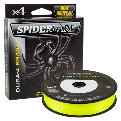 Obrázek z SpiderWire Dura 4 Hi-Vis Yellow 150m, 0.25mm 23.2k